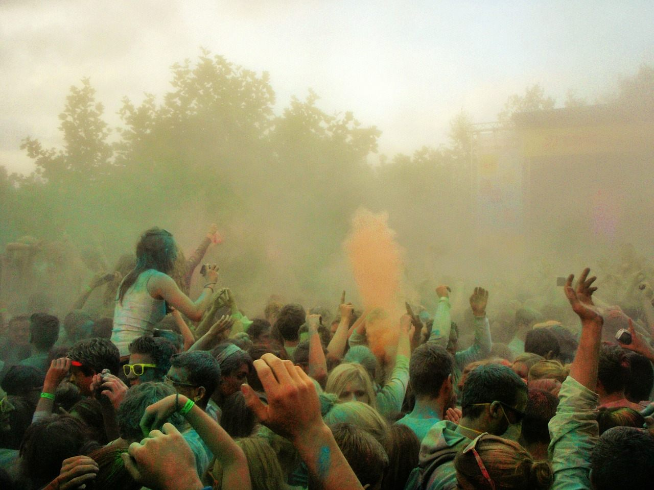 Colours at holi
