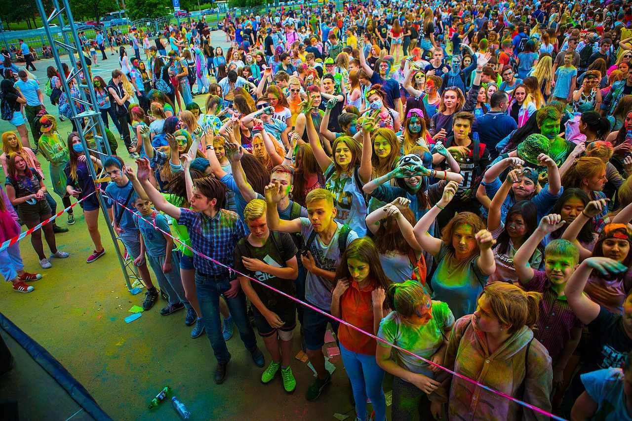 party at holi festival